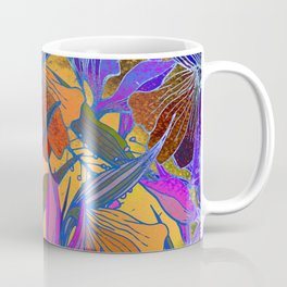 Watercolor textured tropical seamless pattern. Exotic flowers. Coffee Mug