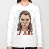 karu kara Long Sleeve T-shirts featuring Suzy - Moonrise Kingdom - Kara Hayward by Heather Buchanan
