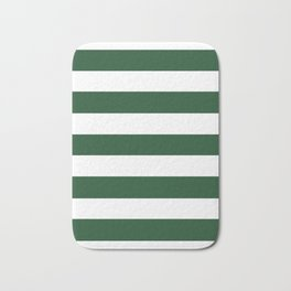 Cal Poly Pomona green - solid color - white stripes pattern Bath Mat