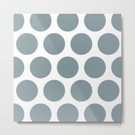 Large Polka Dots: Neutral Blue Metal Print