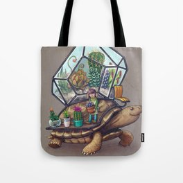 Tortoise Terrarium Tote Bag