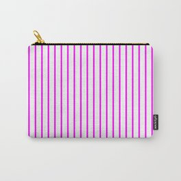 Vertical Lines (Fuchsia/White) Carry-All Pouch