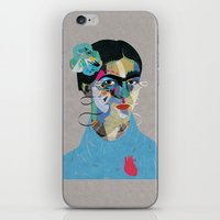 frida iPhone & iPod Skins featuring Frida by Zaneta Antosik
