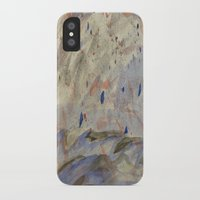 anxiety iPhone & iPod Cases featuring Anxiety by Kali Thomas