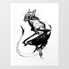 The Dragonbat Art Print