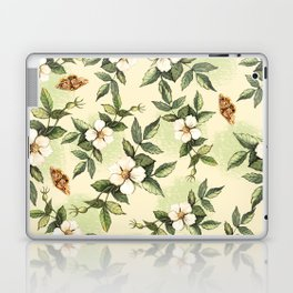 Delicate pattern with flowers and butterflies hips Laptop & iPad Skin