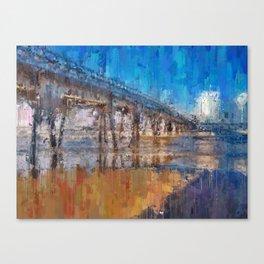 Pier of Mongaguá Beach Canvas Print
