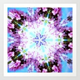 Purple Flower Power Series Art Print