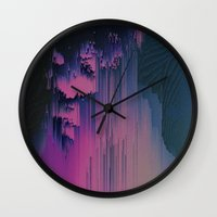 fringe Wall Clocks featuring Pink Fringe by DuckyB