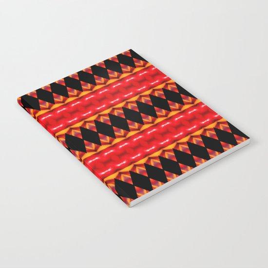 Black Diamonds on red Notebook
