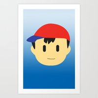 earthbound Art Prints featuring Ness Earthbound by JAGraphic