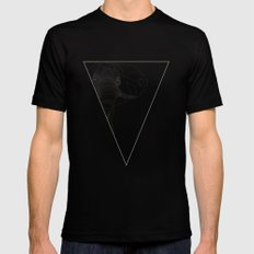 All lines lead to the...Elephant Black MEDIUM Mens Fitted Tee