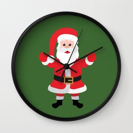 Christmas Santa Claus Says Welcome to You Wall Clock