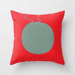 Non–Magic Spiral Throw Pillow