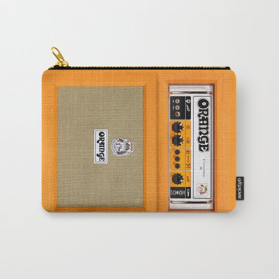 Retro Orange guitar electric amp amplifier iPhone 4 4s 5 5s 5c, ipad, tshirt, mugs and pillow case Carry-All Pouch
