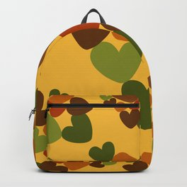 Seventies hearts - curry yellow Backpack