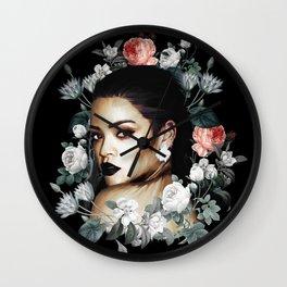 Floral Rihanna Wall Clock