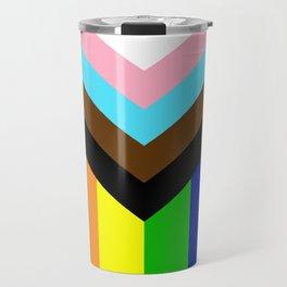 LGBTQ+ Pride Flag Inclusive (LGBTQ+ Pride, Gay Pride) Travel Mug