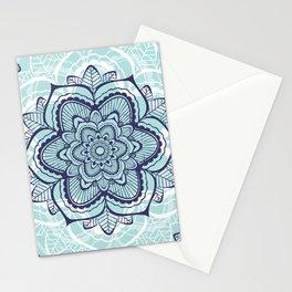 Teal Mandala floral Stationery Cards