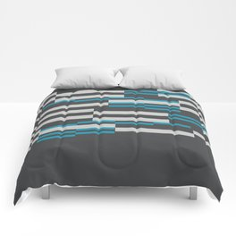Rectangles Stripes grey background Comforters