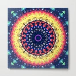 Colorful Flower Mandala Metal Print