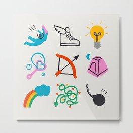 Sagittarius Emoji Metal Print
