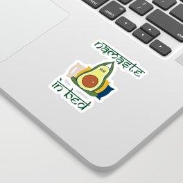 Avocado Namaste In Bed Sticker