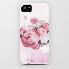 The tender touch of peonies iPhone Case