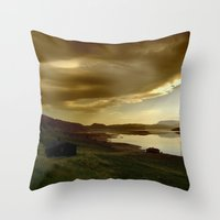 norway Throw Pillows featuring Norway by Sushibird