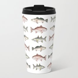 Pattern: Inshore Slam ~ Redfish, Snook, Trout by Amber Marine ~ (Copyright 2013) Travel Mug
