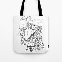 rat Tote Bags featuring Rat by Ruff Worlock