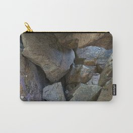 Natural Beach Rock Cave Texture Cornwall Carry-All Pouch