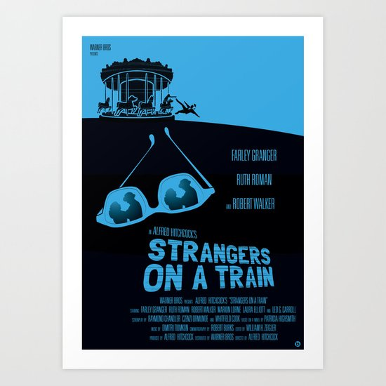 ALFRED HITCHCOCK'S STRANGERS ON A TRAIN Art Print