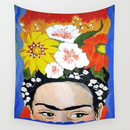 My Frida's Flowers Wall Tapestry