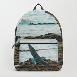 Seagull Flight by the beach Backpack