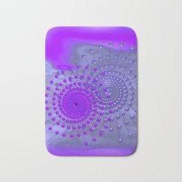 violet and blue spirals Badematte