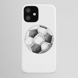 Football ball sketch iPhone Case