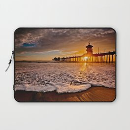 Surf City Sunsets -  Sunset At The Huntington Beach Pier 3/4/16 Laptop Sleeve