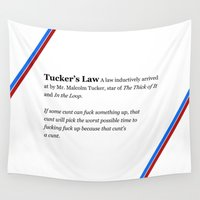 law Wall Tapestries featuring Tucker's Law by brilliantbutton
