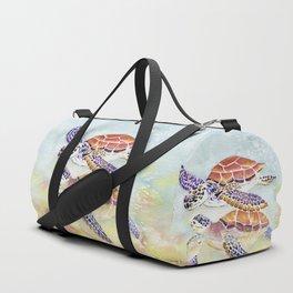 Swimming Together - Sea Turtle Duffle Bag