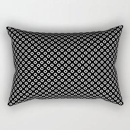 Black and white circles Rectangular Pillow
