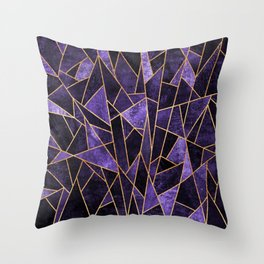Shattered Amethyst Throw Pillow
