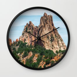 Mountains at Garden of the Gods Wall Clock