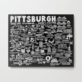 Pittsburgh Map  Metal Print
