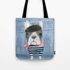 French Bulldog. (panoramic view version) Tote Bag