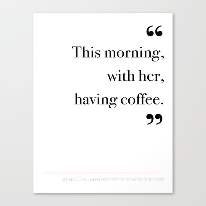 With her, having coffee Canvas Print
