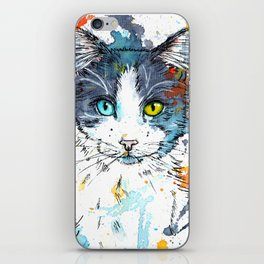 In your Eyes - Colorful cat portrait iPhone Skin