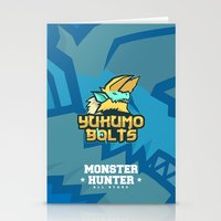 monster hunter Stationery Cards featuring Monster Hunter All Stars - The Yukumo Bolts by Bleached ink
