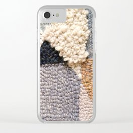Mountain Tops Rug Hooked Art Clear iPhone Case
