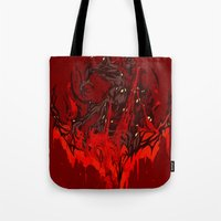 werewolf Tote Bags featuring Werewolf by Kivapo